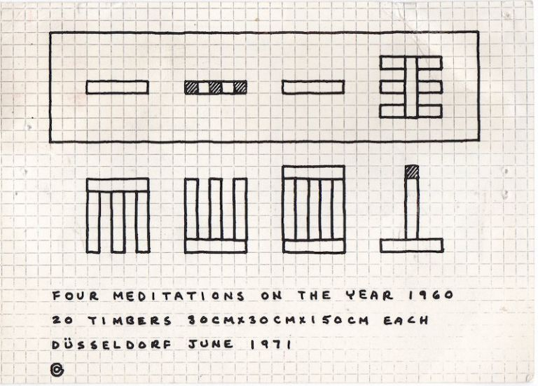 Four Meditations on the Year 1960. Carl Andre.