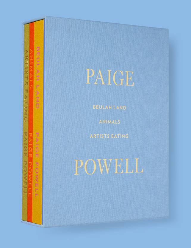 Paige Powell: Four-Volume Book Set; Beulah Land, Artists Eating, Animals, Paige Powell. Kim Hastreiter.