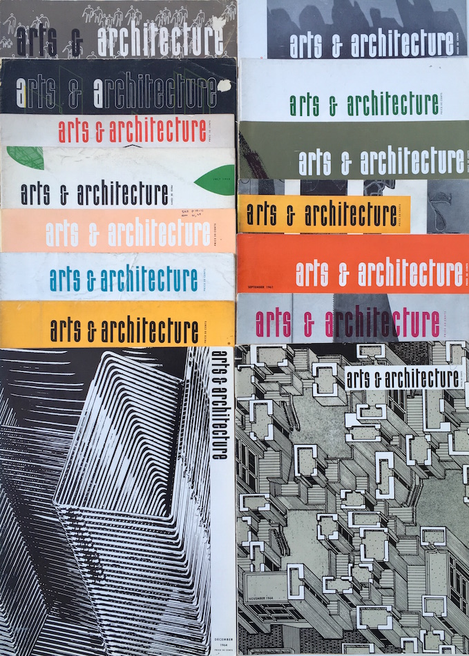 A Collection of 30 Issues of Arts & Architecture Magazine; 1944-1967. John Entenza, David Travers.
