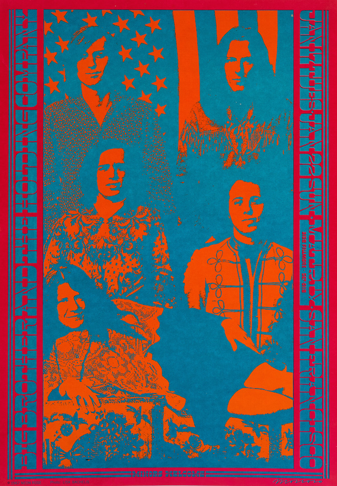 Big Brother and the Holding Company: Neon Rose Poster #3. Victor Moscoso.