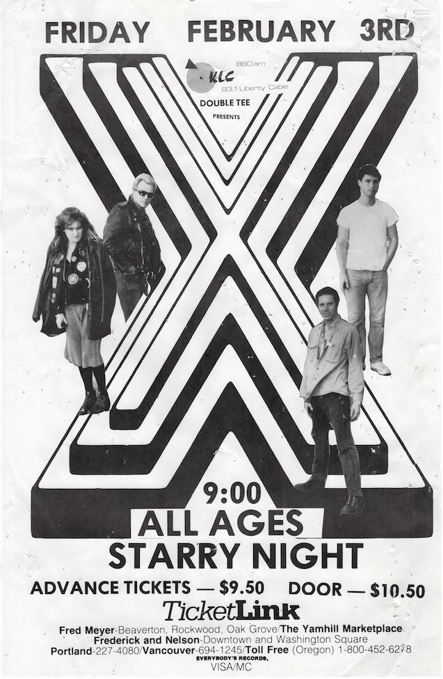 X at Starry Night, Concert Poster (1984)