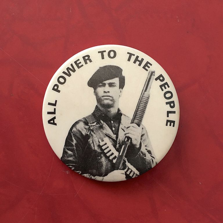 All Power to the People (Button). Huey Newton.