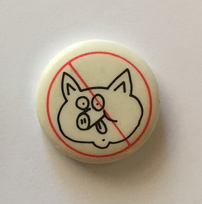 Don't Be a Litterpig Button (Pig Head 1984). Keith Haring.