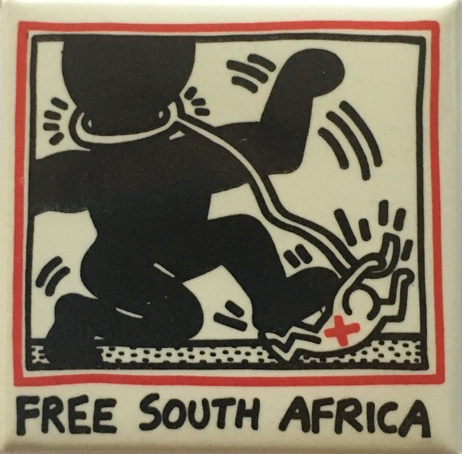 Free South Africa Button (1988). Keith Haring.