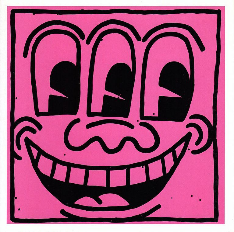 Important Early Works from the Estate: Shafrazi Gallery Card (1992). Keith Haring.