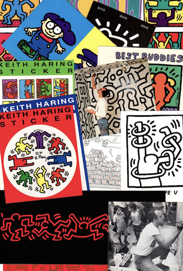Keith Haring Postcard and Sticker Collection: 17 Items (1990s). Keith Haring.