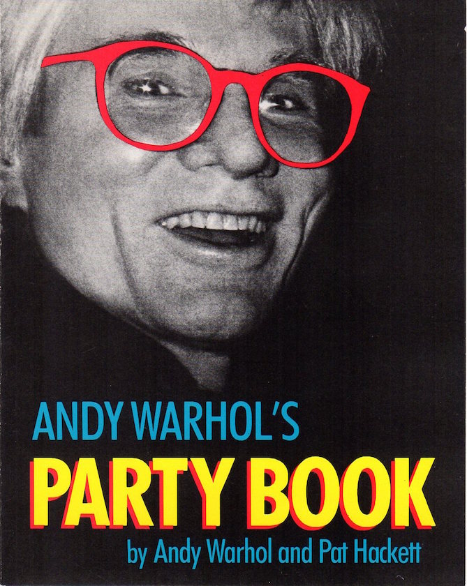 Andy Warhol's Party Book: Interview Magazine Release Party Invitation Card (1988). Andy Warhol, Pat Hackett.