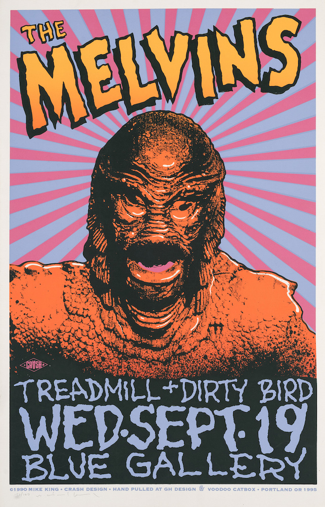 The Melvins Silkscreen Concert Poster, No. 22 of 100. Mike King.