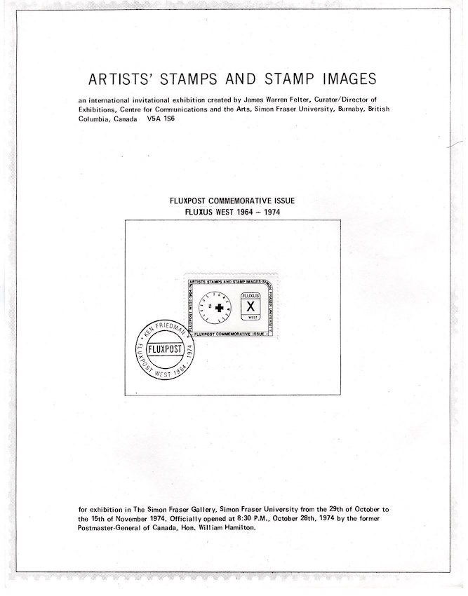 Artists' Stamps and Stamp Images; An International Invitational Exhibition. James Warren Felter.