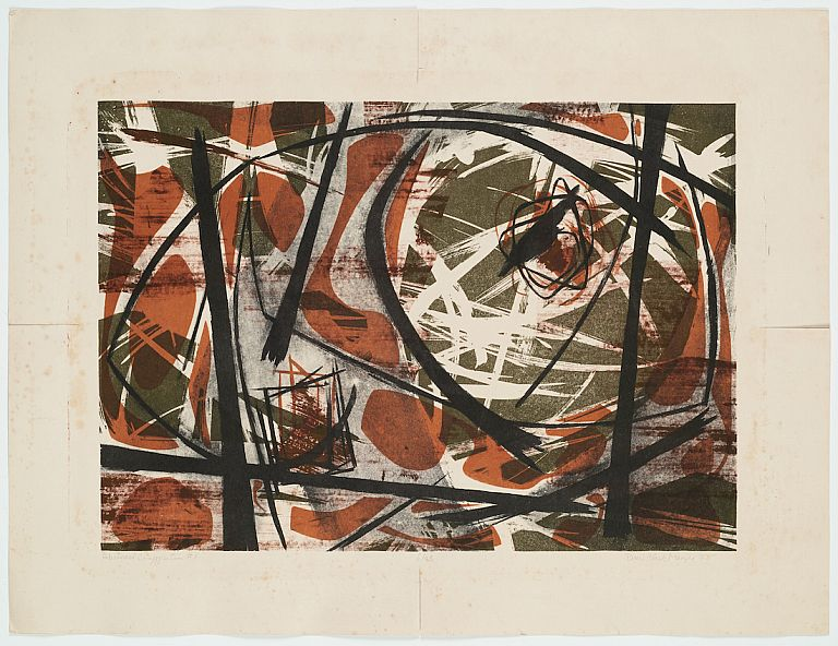 Abstract Composition #1: Color Lithograph, No. 6 of 23. Doris Chatham, Clark Meyer.