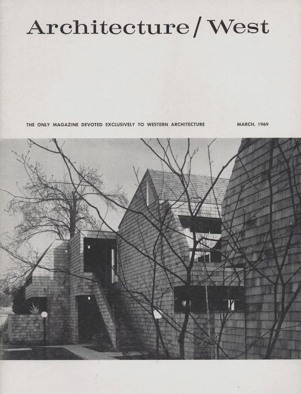 Architecture West: March 1969; Vol. 75, No. 3. Relta Grey.