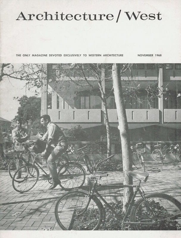 Architecture West: November 1968; Vol. 74, No. 11. Relta Grey.