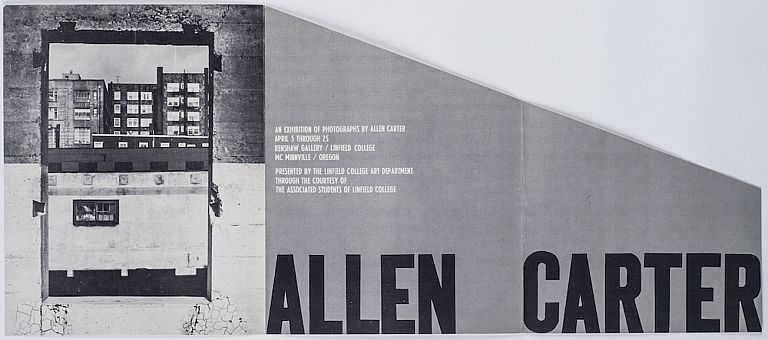 An Exhibition of Photographs By Allen Carter