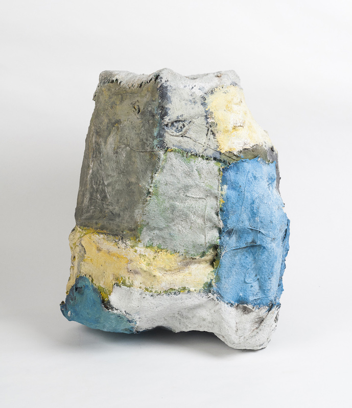 Norma Heyser Sculpture [blue-yellow]. Norma Heyser.