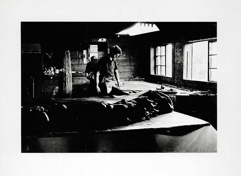 Oregon Tannery Photograph [work table]