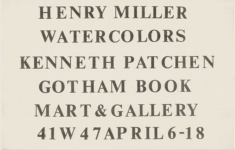 Henry Miller and Kenneth Patchen at Gotham Book Mart. Henry Miller, Kenneth Patchen.
