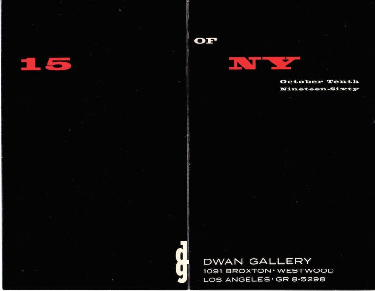 Dwan Gallery: 15 of NY