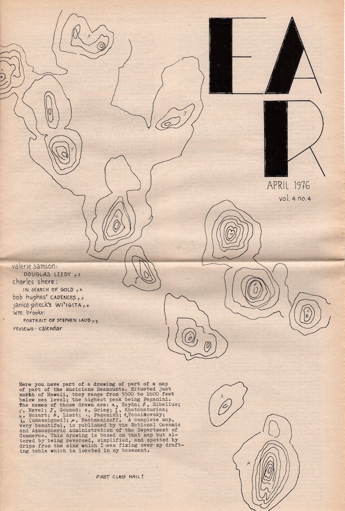 EAR Magazine: April 1976; Volume 4, Number 4. Charles Shere, Ed.