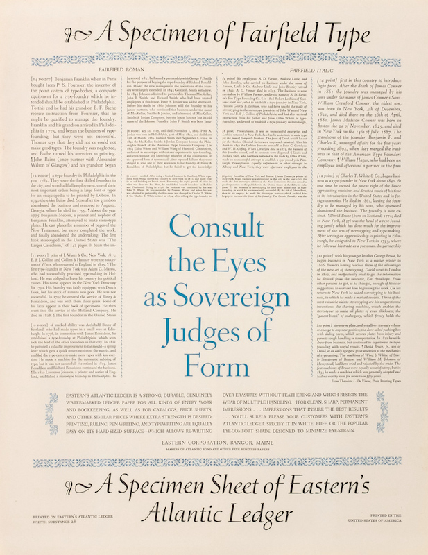 Type Specimen Poster: Fairfield