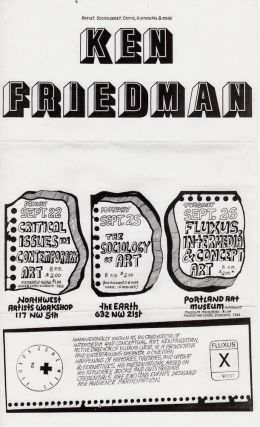 Ken Friedman: 3 Events in Portland, OR [poster]. Ken Friedman