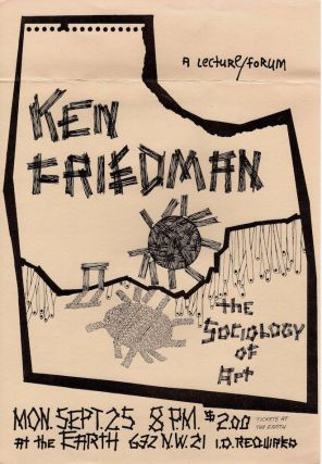 Ken Friedman: Events in Portland, OR; Portland Art Museum & The Earth Tavern