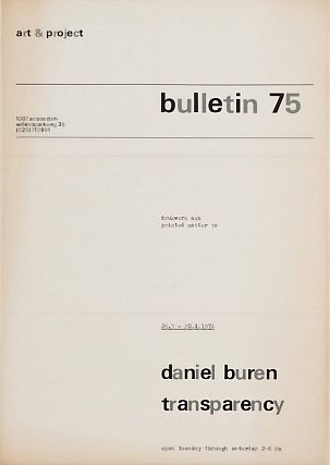 Art & Project Bulletin 75