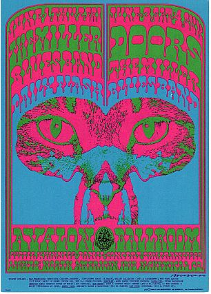 Steve Miller Blues Band and The Doors: Family Dog Productions Concert Postcard (1967). Chet...