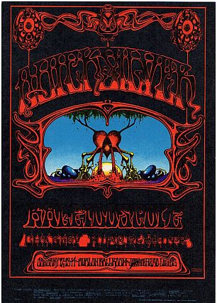 Quicksilver Messenger Service and Charley Musselwhite: Family Dog Productions Concert Postcard...