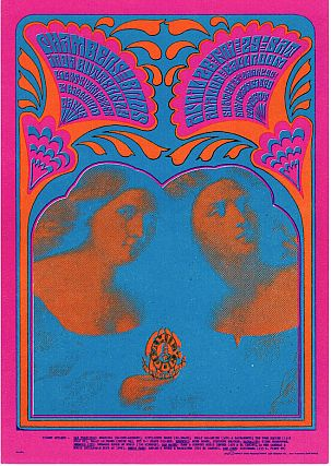 The Chamber Brothers and Iron Butterfly: Family Dog Productions Concert Postcard (1967
