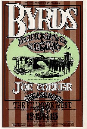 The Byrds and Joe Cocker: Bill Graham Presents Concert Postcard (1969). Bill Graham, Randy Tuten