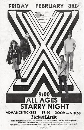 X at Starry Night, Concert Poster (1984
