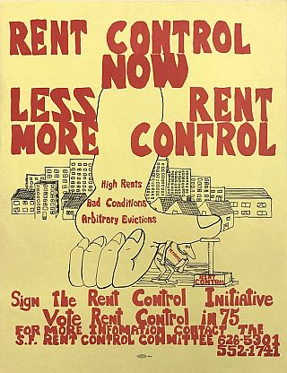 San Francisco: Rent Control Now Poster