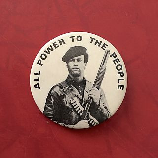 All Power to the People (Button). Huey Newton