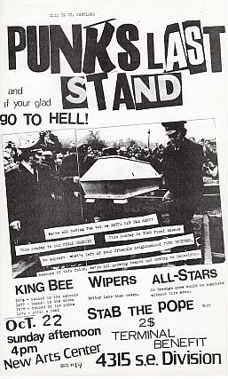 Punk's Last Stand Flyer (1978). Mark Sten, Mike King