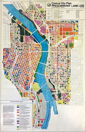 Portland Recommended Central City Plan Map (1987)