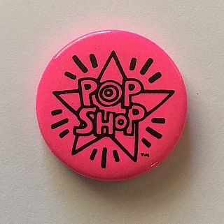 Pop Shop Button (Pink, circa 1986