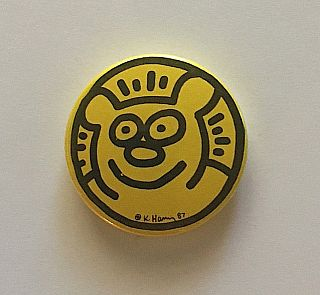 "Yellow Bear ""Gymnase du Bugnon"" Button (1987"