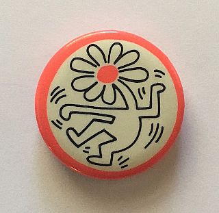 Dancing Flower Head Button (1989