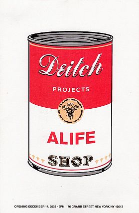 Deitch Projects: ALife Shop Exhibition Card (2002