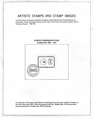Artists' Stamps and Stamp Images; An International Invitational Exhibition. James Warren Felter