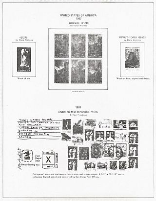 Artists' Stamps and Stamp Images; An International Invitational Exhibition