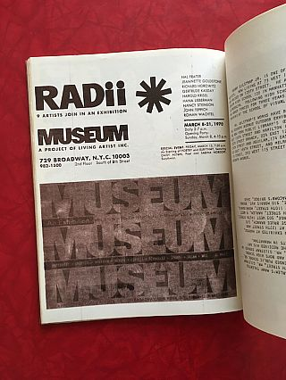 MUSEUM Magazine: A Project of Living Artists (1970)