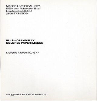 Ellsworth Kelly: Colored Paper Images Exhibition Card (1977)