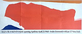 Helen Frankenthaler: André Emmerich Gallery Exhibition Poster (1968); Hand-addressed by...