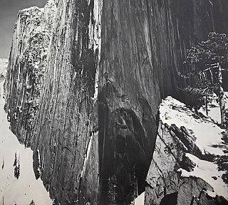 National Parks Poster: Half Dome at Yosemite National Park, Photo by Ansel Adams (1968)
