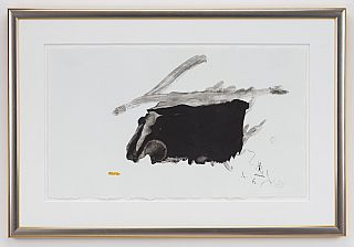 Robert Motherwell: Airless Black, Signed Lithograph; No. 73 of 98. Robert Motherwell