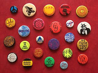 Drugs, Counterculture and Anti-War Button Collection: 24 Buttons (1960-'70s