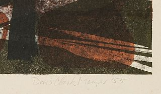 Abstract Composition #1: Color Lithograph, No. 6 of 23