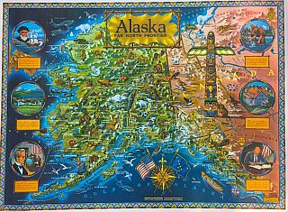 Alaska Far North Frontier Pictorial Map (1964). R. Klengston Rude