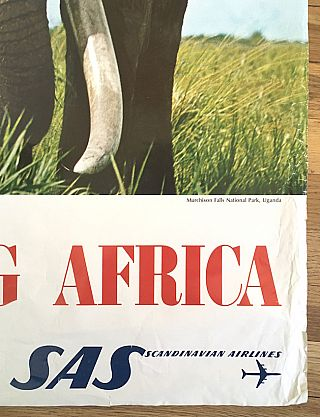 Exciting Africa: Scandinavian Airlines Poster (circa 1970)